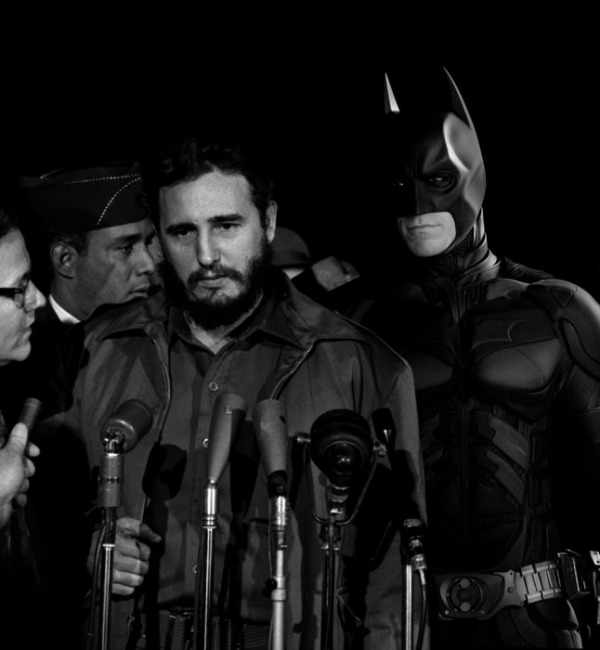 Fidel Castro and Batman - MATS Terminal Washington 1959