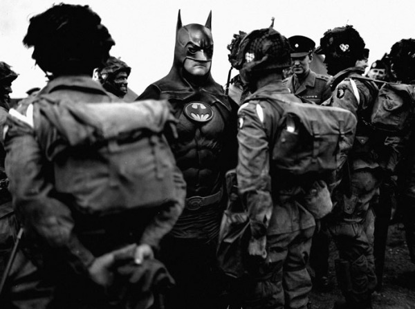 June 5 evening, the men of Company E, 2502nd PIR (U.S. 101st Airborne Division) surround Batman